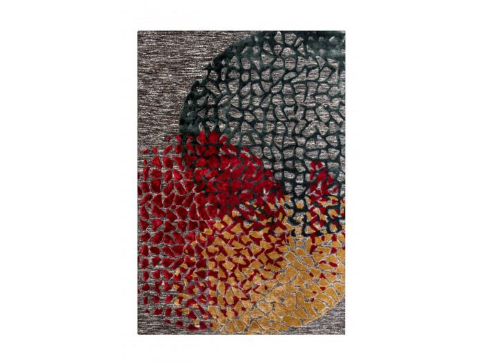 Tapis SHABBY Multicolor / Rouge / Gris 80cm x 150cm