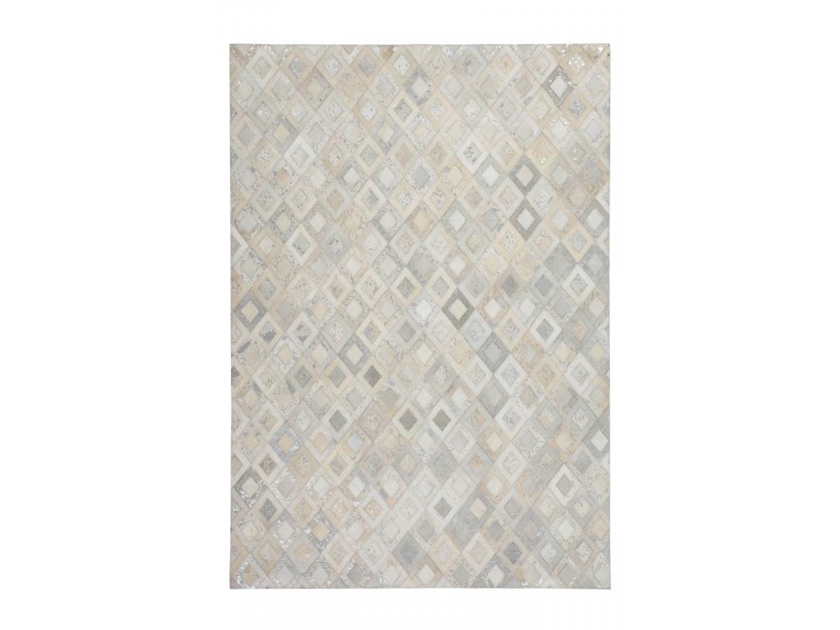 Tapis KHALED Gris / Argent 80cm x 150cm