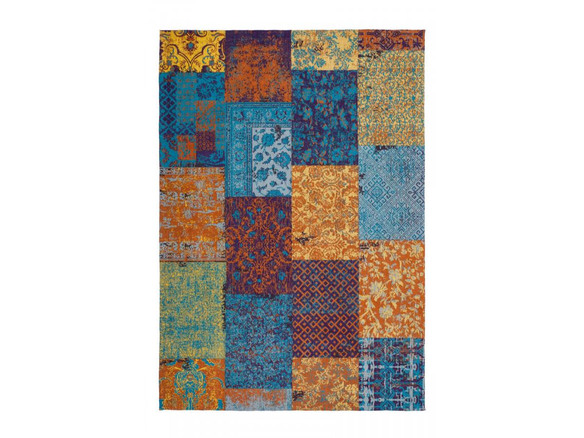 Tapis RIVKA Multicolor / Bleu / Jaune 80cm x 150cm