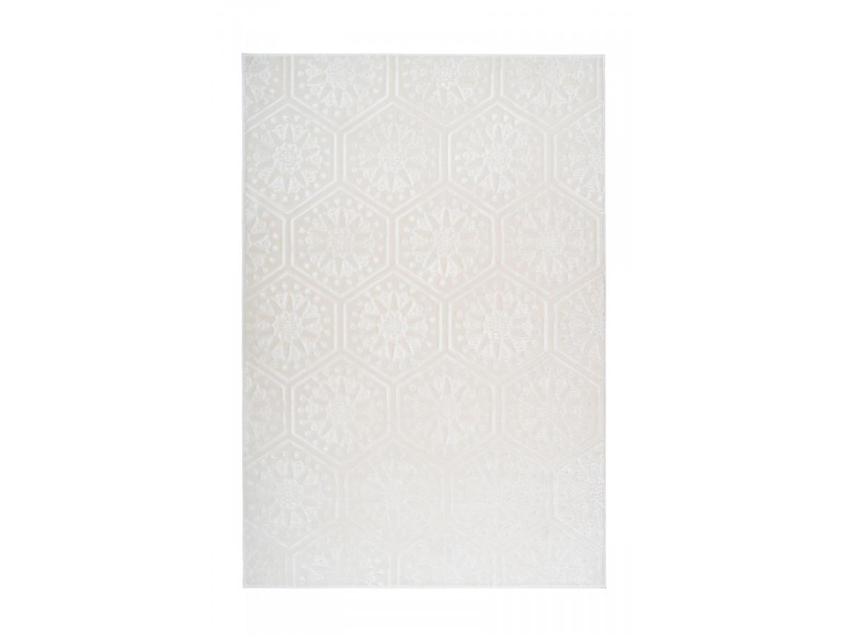 Tapis FLORETTA Blanc 120cm x 180cm