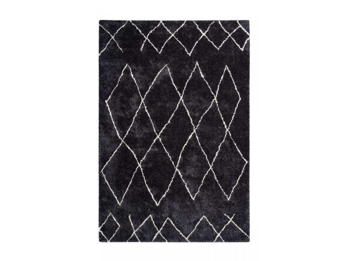 Tapis en cuir KHALED motif contemporain