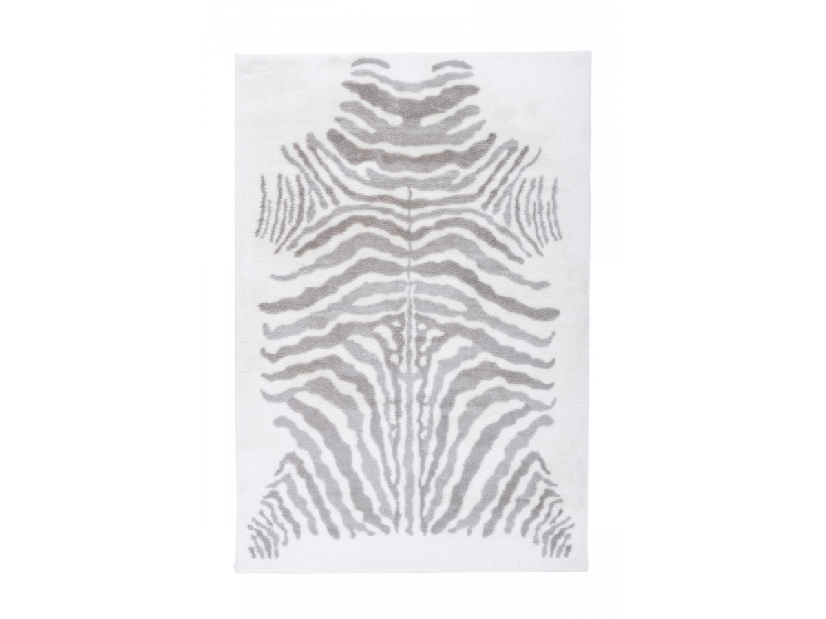 Tapis ZORI Gris / Blanc 120cm x 160cm