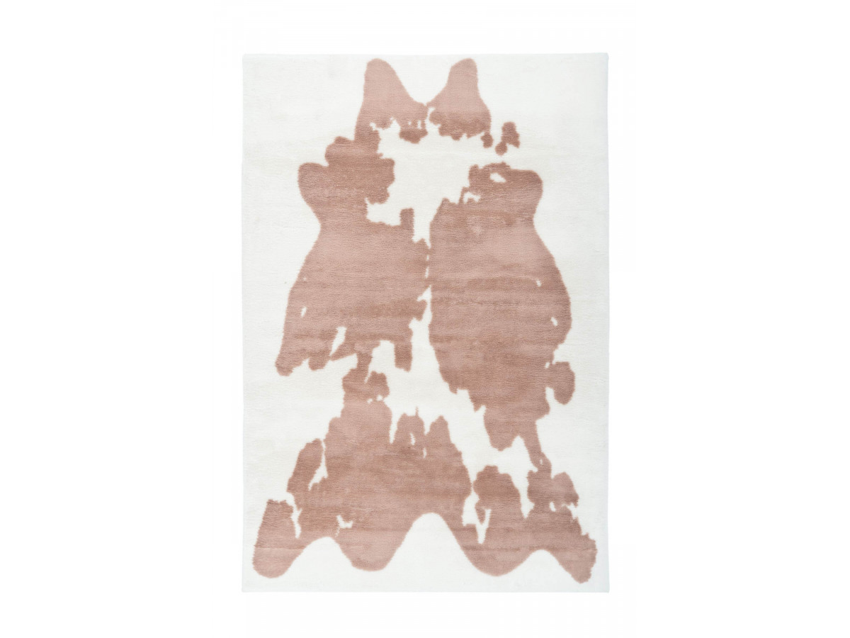 Tapis ZORI Taupe / Blanc 160cm x 230cm