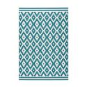 Tapis HUNDIE Blanc / Turquoise 120cm x 180cm