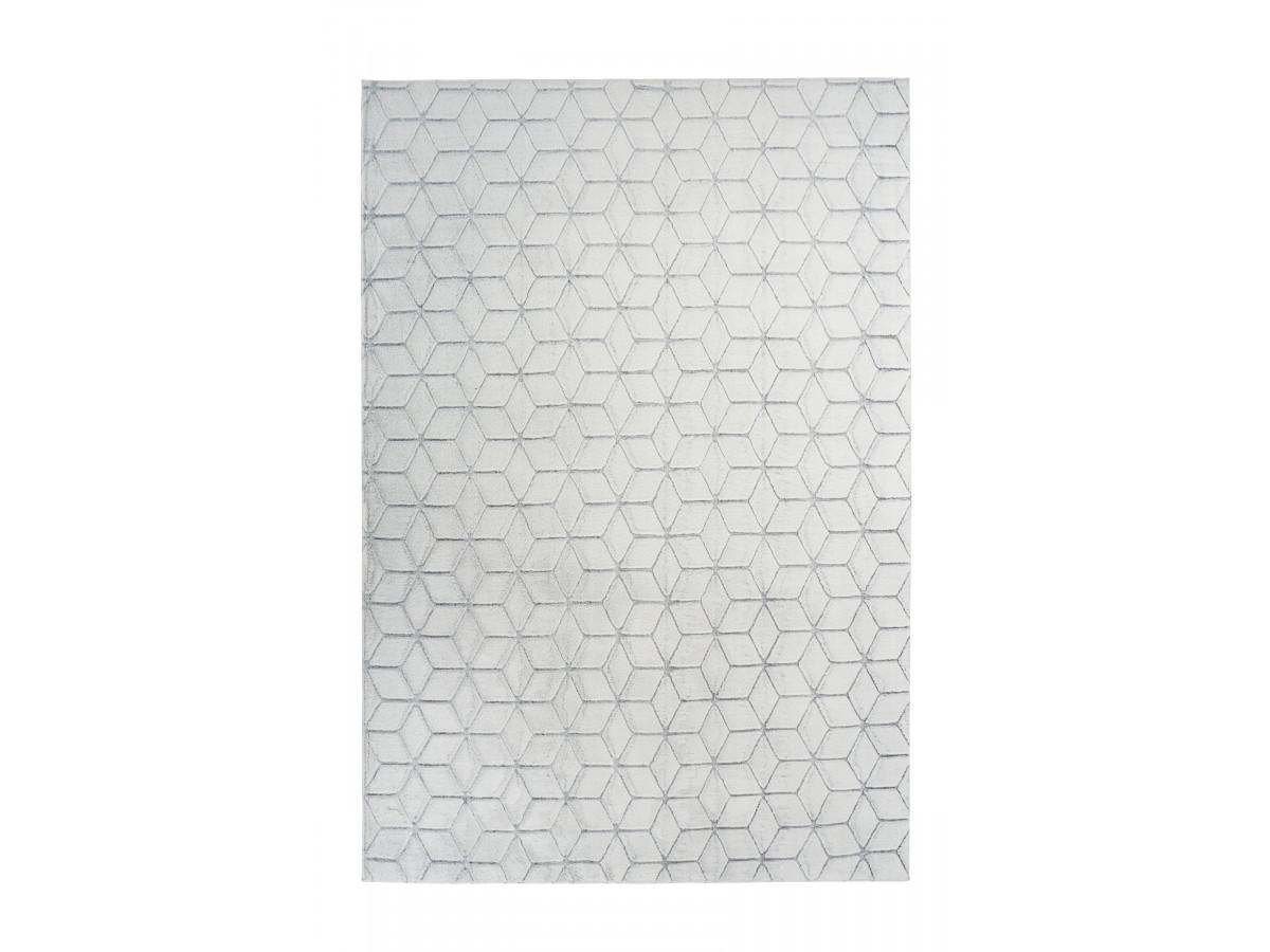 Tapis SIGMA Blanc / Gris 80cm x 150cm