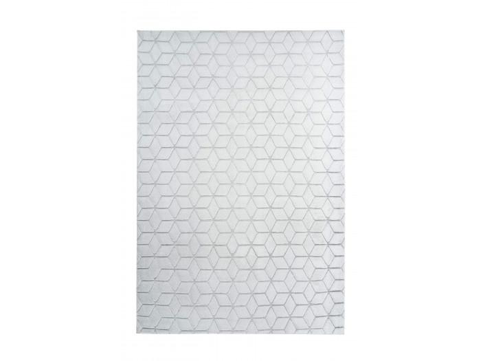 Tapis SIGMA Blanc / Gris-bleu 120cm x 160cm