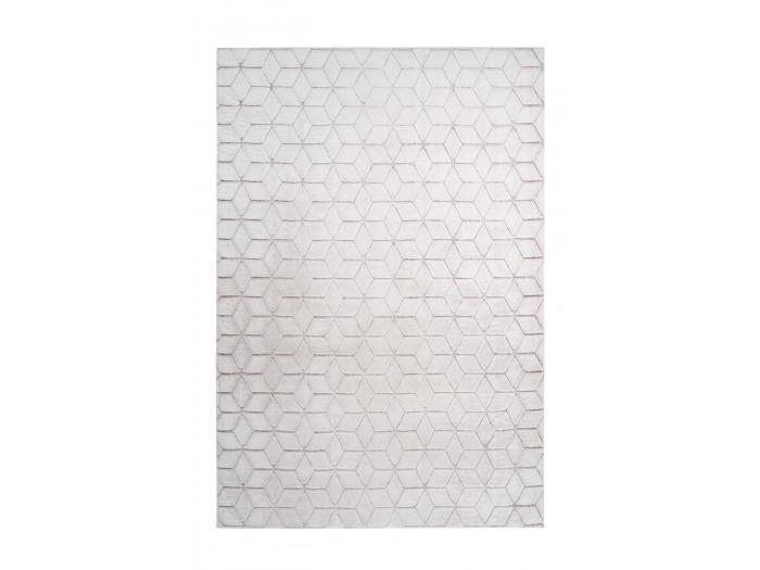 Tapis SIGMA Blanc / Blanc rosé 120cm x 160cm