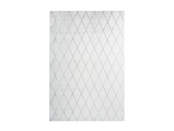 Tapis BETA Blanc / Gris-bleu 80cm x 150cm