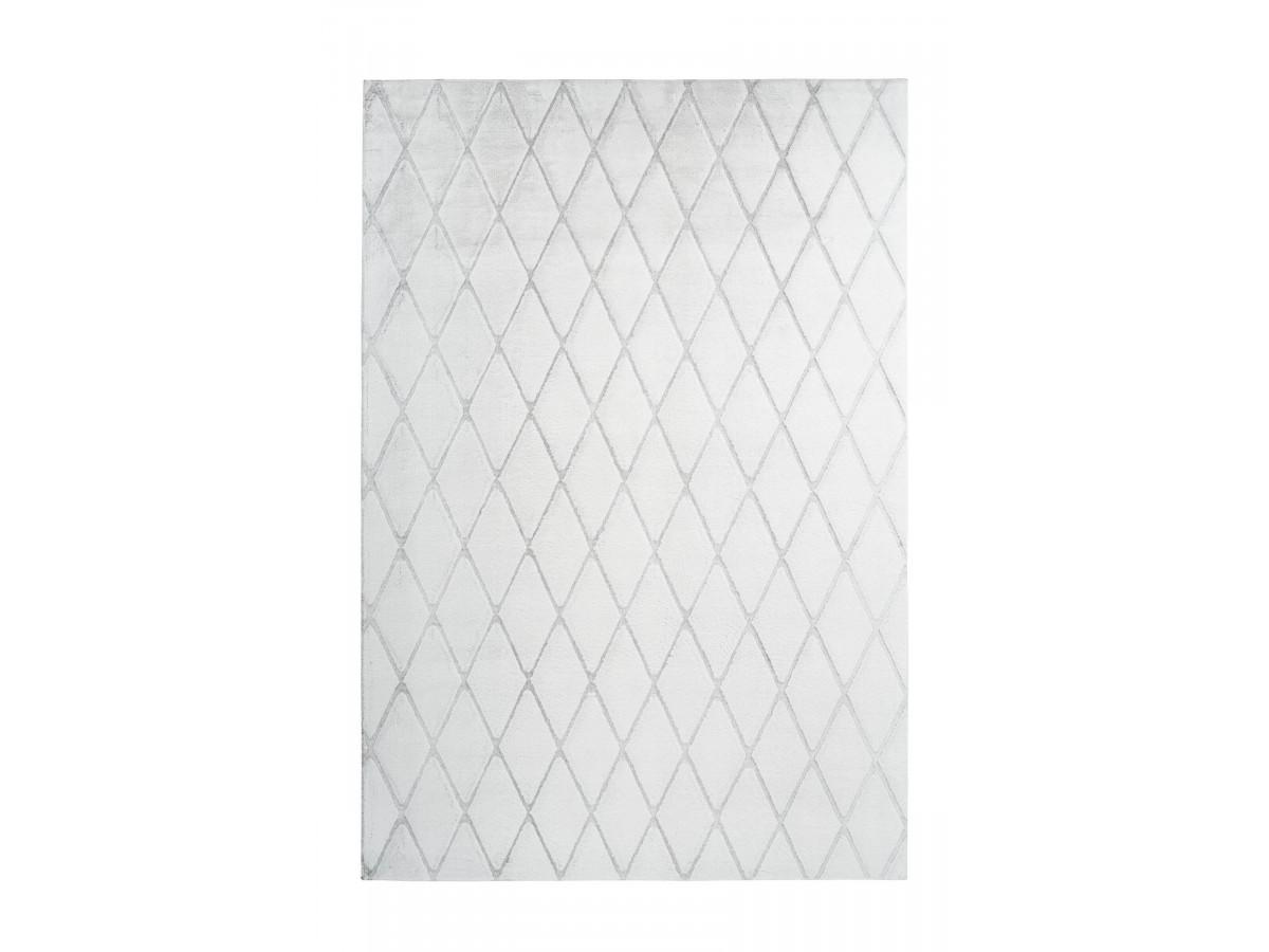 Tapis BETA Blanc / Gris-bleu 160cm x 230cm