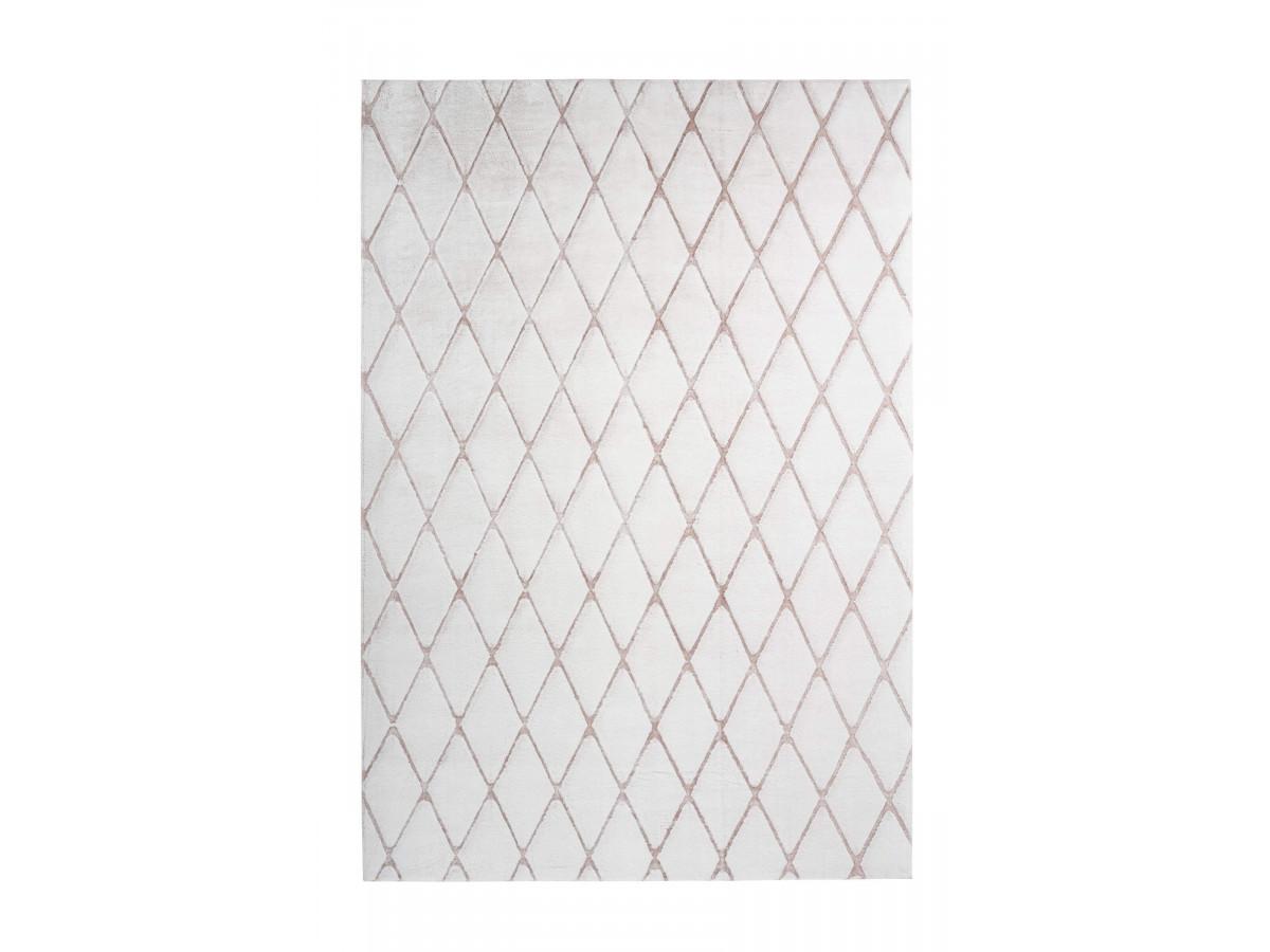 Tapis BETA Blanc / Blanc rosé 160cm x 230cm