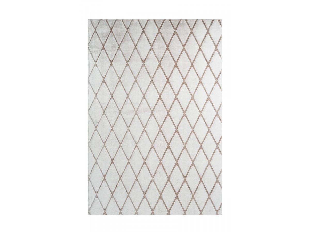 Tapis BETA Blanc / Blanc cassé 80cm x 250cm