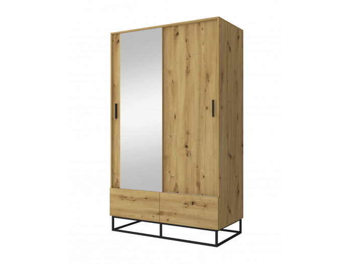 Armoire 130 cm 2 portes ENJOY IT Chêne