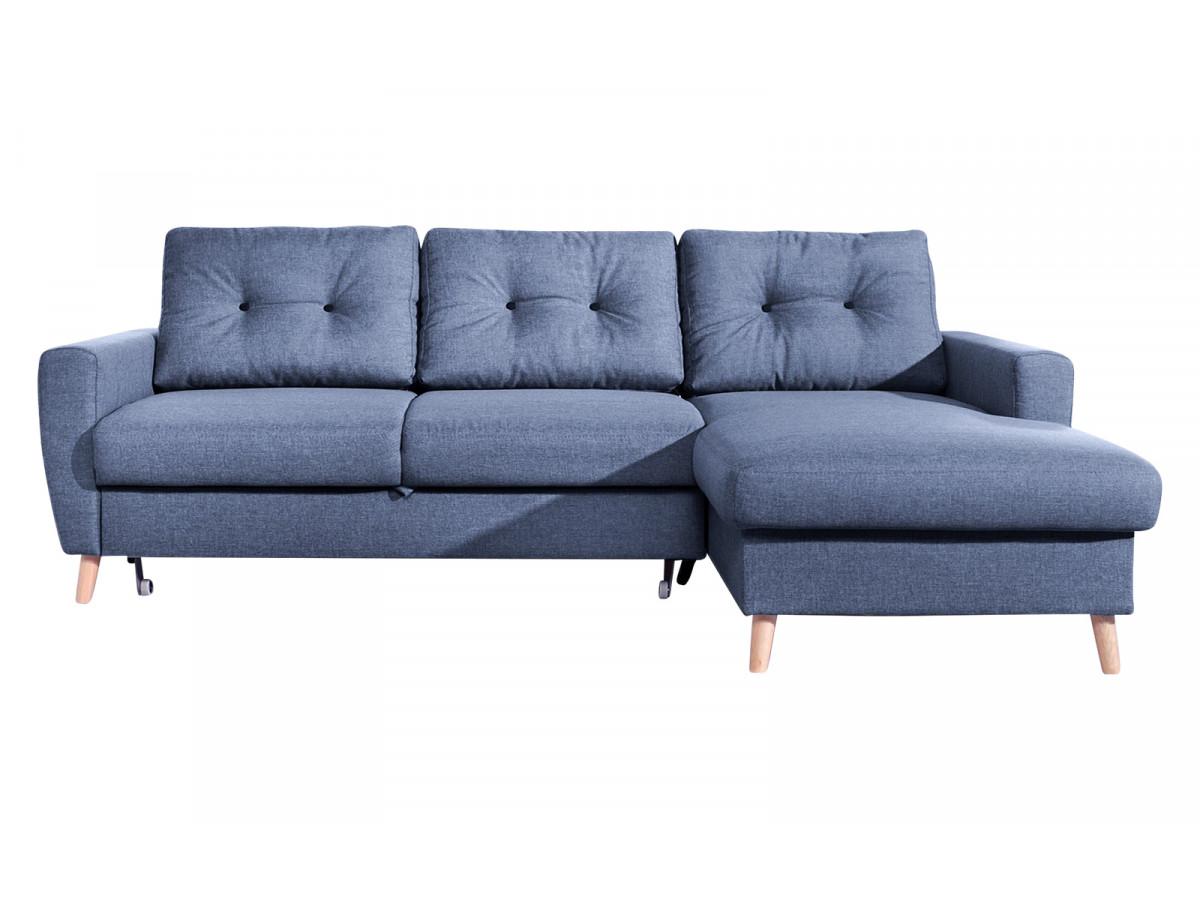 Canapé d'angle convertible coffre SCANDI