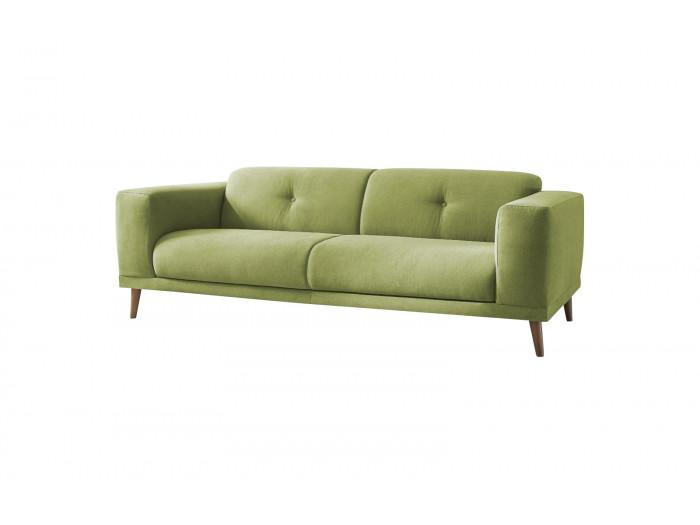Canapé droit fixe avec pouf LUNA
