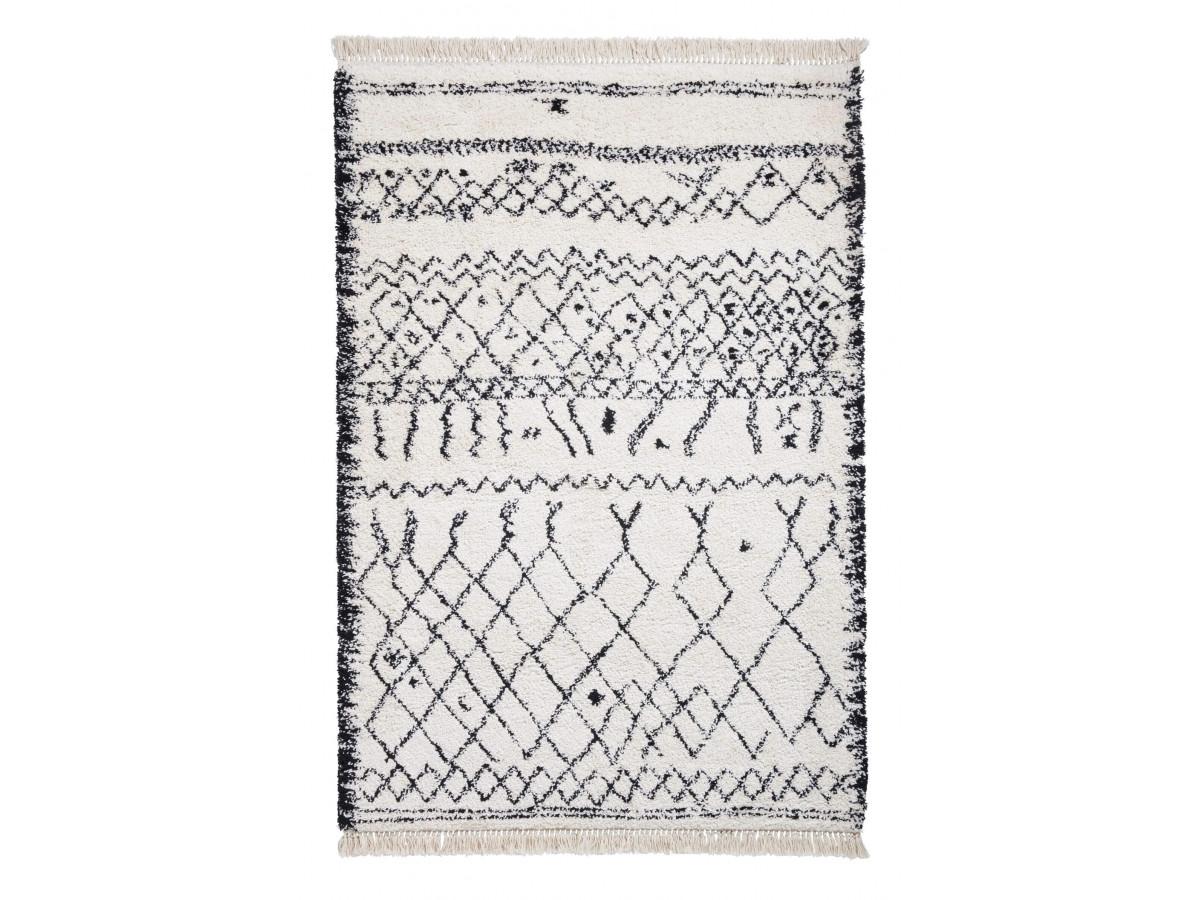 Tapis SARI Noir / Blanc 120 x 170