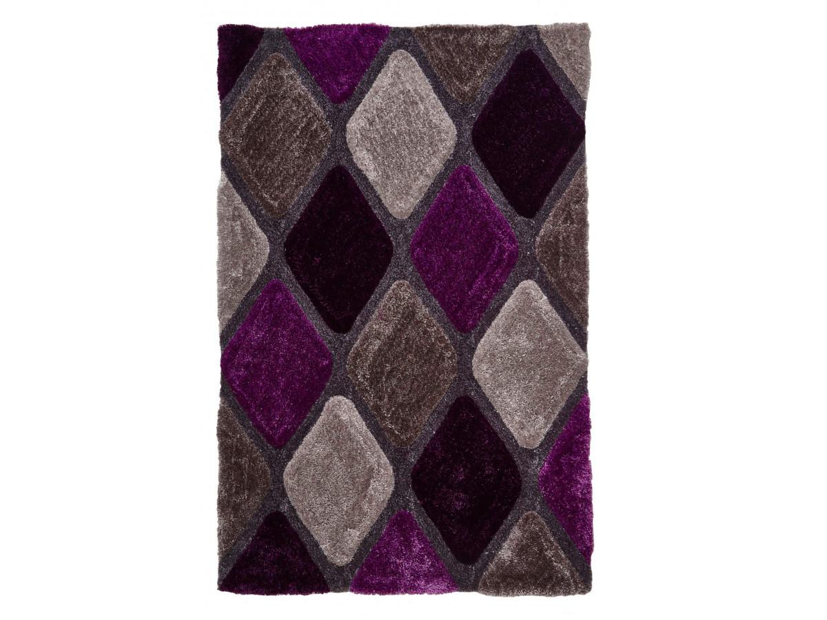 Tapis CHARIS Gris / Violet 120 x 170