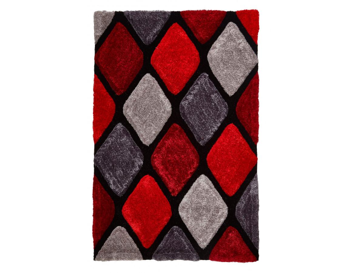 Tapis CHARIS Gris / Rouge 120 x 170