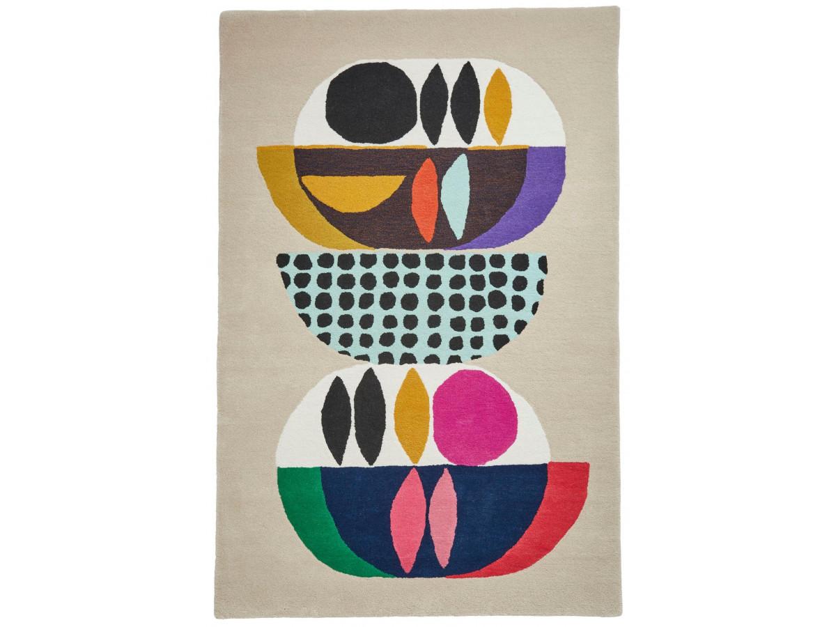 Tapis PERIG Multicolor / Ivoir / Bleu 120 x 170