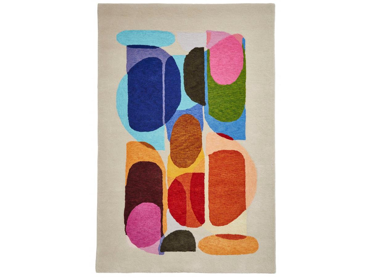 Tapis PERIG Multicolor / Ivoir / Orange 120 x 170