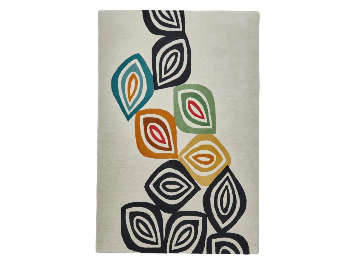 Tapis PERIG Multicolor / Crème / Noir / Jaune 120 x 170