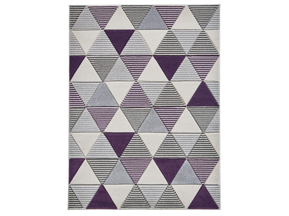 Tapis QUIM 2 Gris / Violet 160 x 220