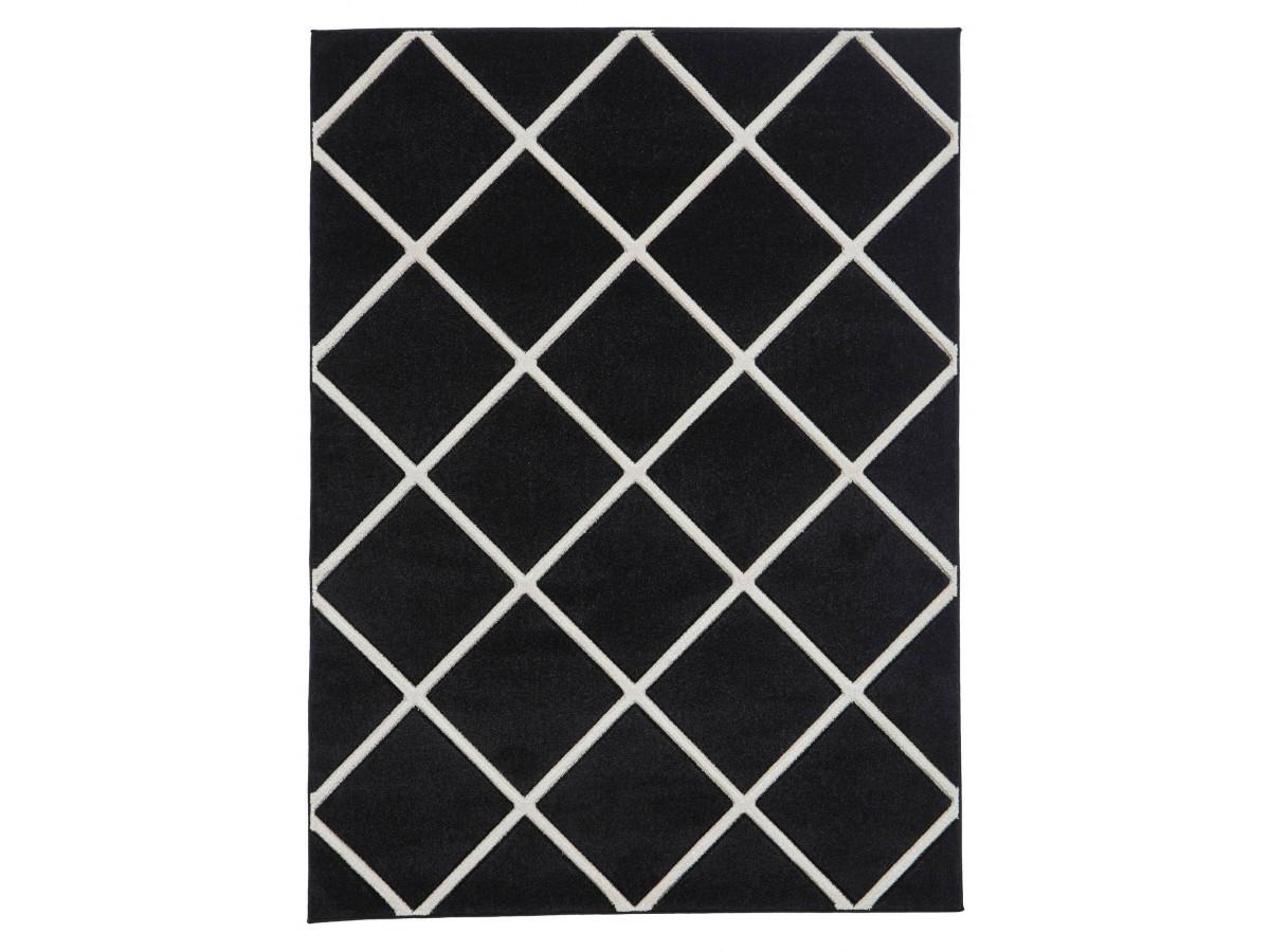 Tapis QUIM Noir / Blanc 120 x 170