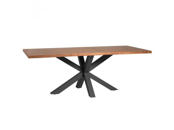 Table à manger fixe MAO noyer / noir 200 x 100