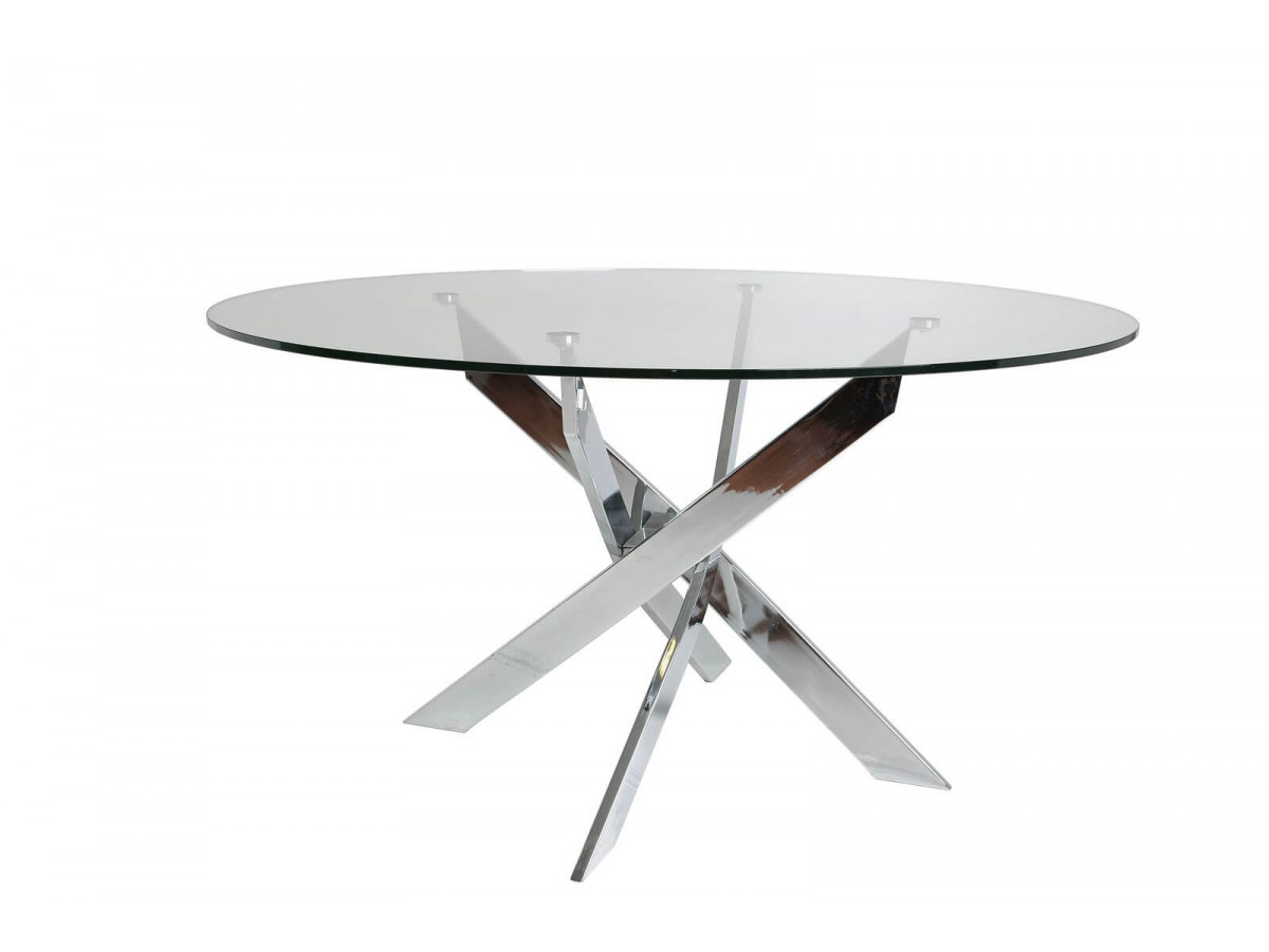Table ASTOR ARGENT 140 x 140