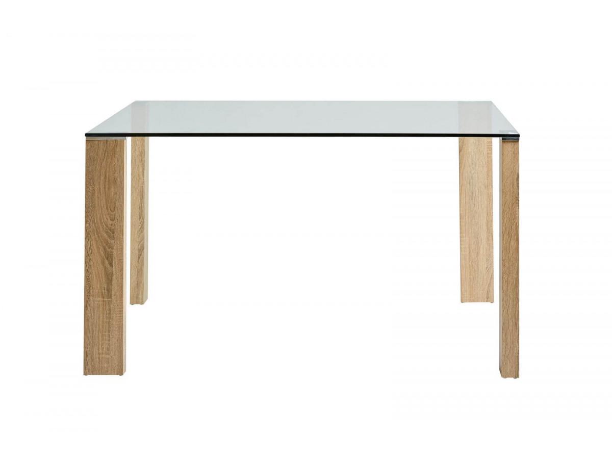 Table ROMA Bois clair 130 x 130