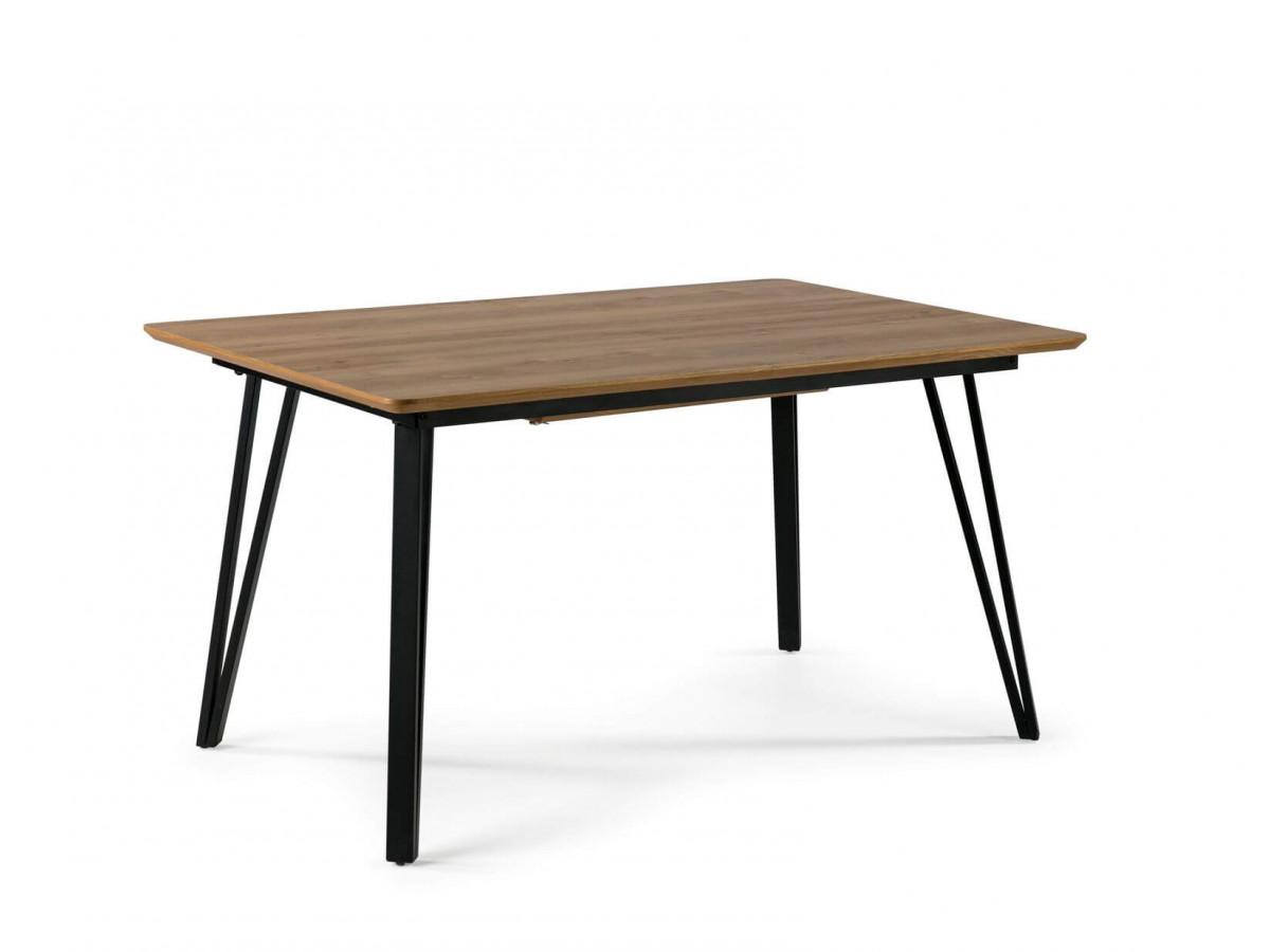 Table BOGOTA chêne clair / noir 140 x 90