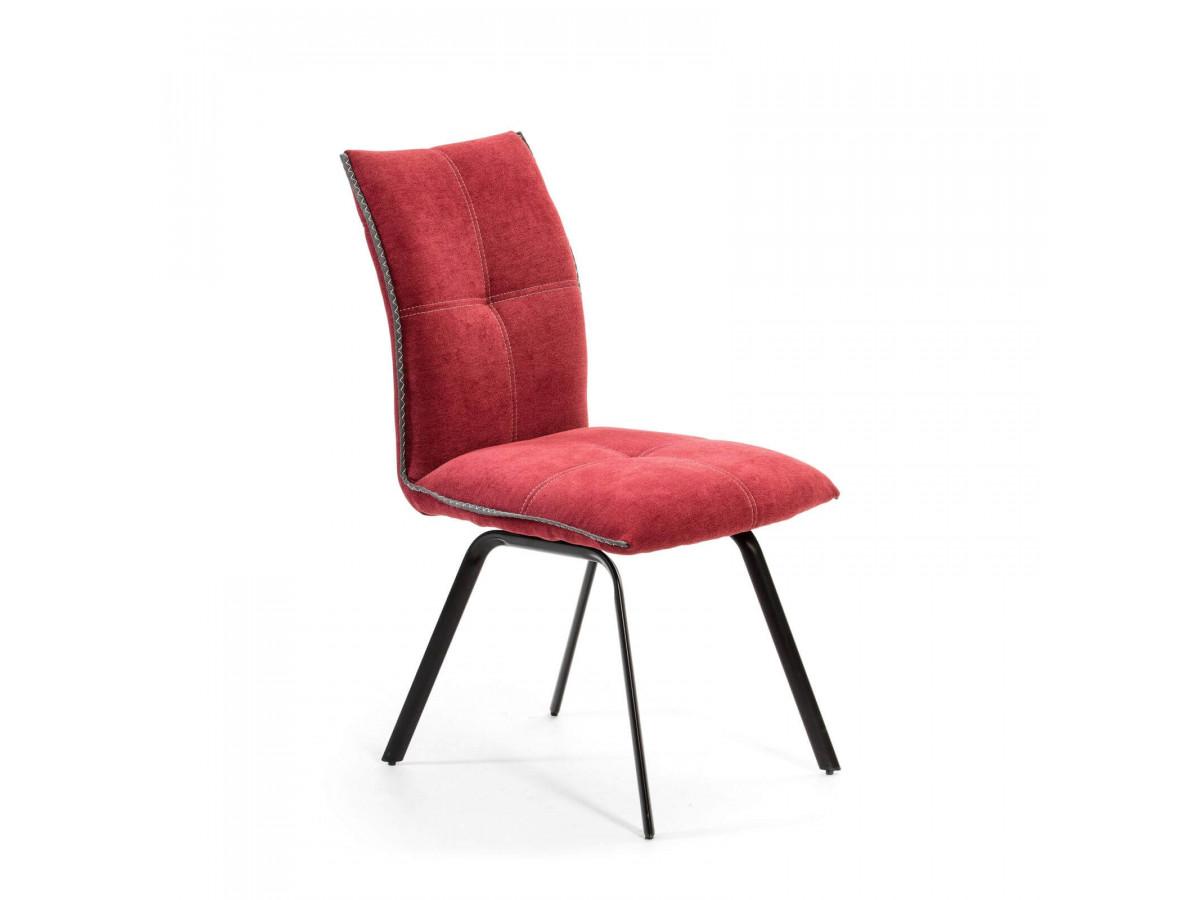 Ensemble de 2 chaises DIRA Rouge