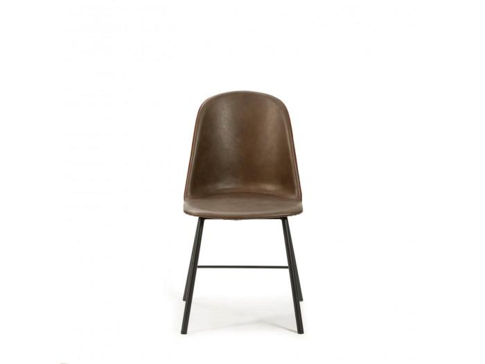 Ensemble de 2 chaises JENI Marron