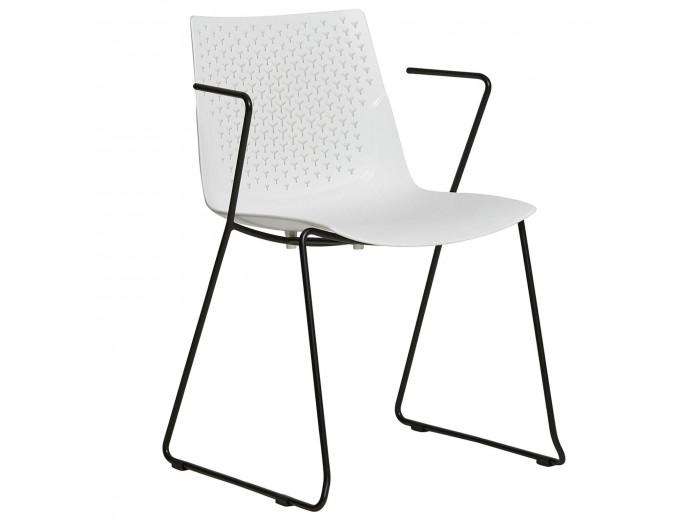 Ensemble de 4 chaises MILIO Blanc