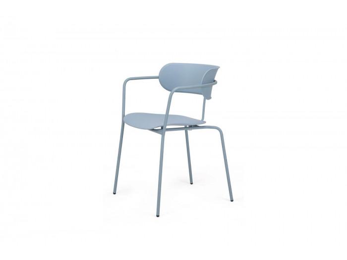 Ensemble de 4 chaises FONTI Bleu