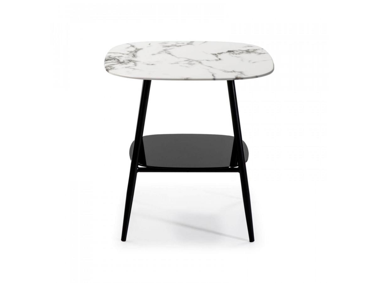 Table d'appoint MONA blanc/noir