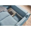 Canapé d'angle L convertible coffre Haute Couture MONA