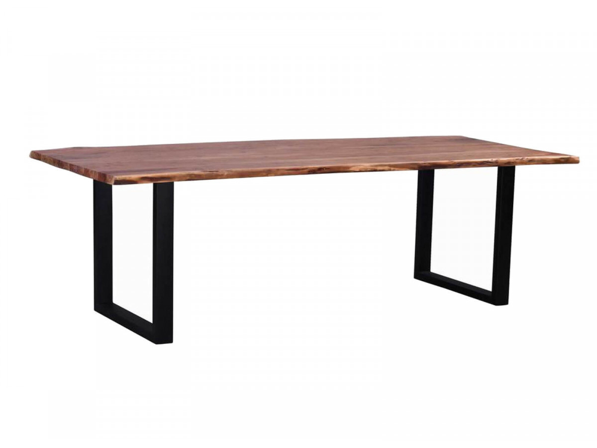 Table de repas 10-12 personnes AWA pieds carres en metal noir