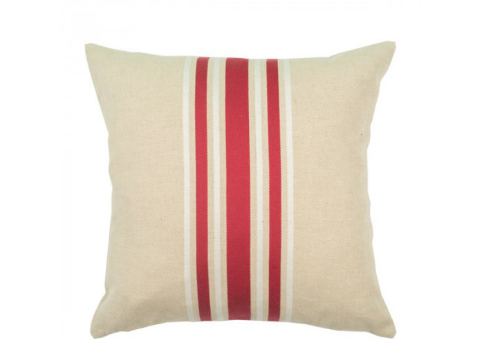 Coussin carre CORDA METIS Rouge