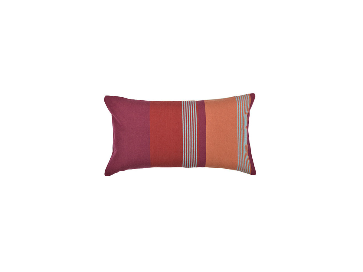Coussin rectangulaire BIDOS CASSIS Rouge