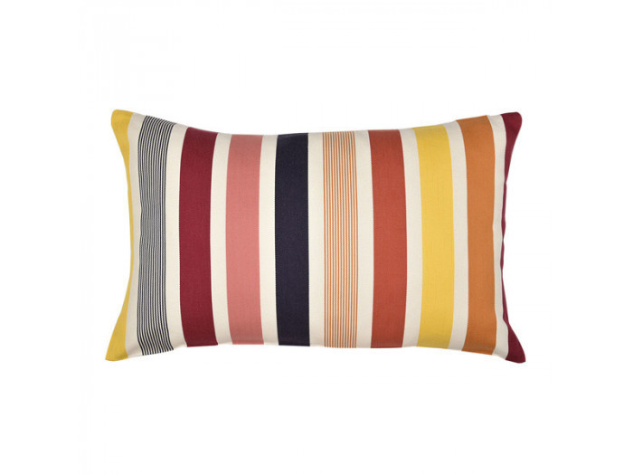 Coussin rectangle GARLIN Rouge rubis