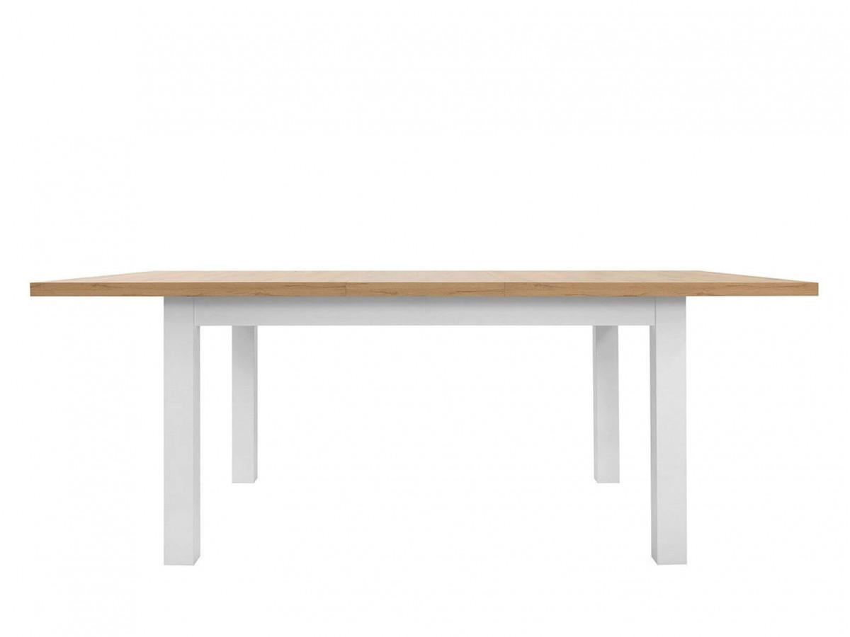 Table à manger extensible MARLA chêne clair/ blanc