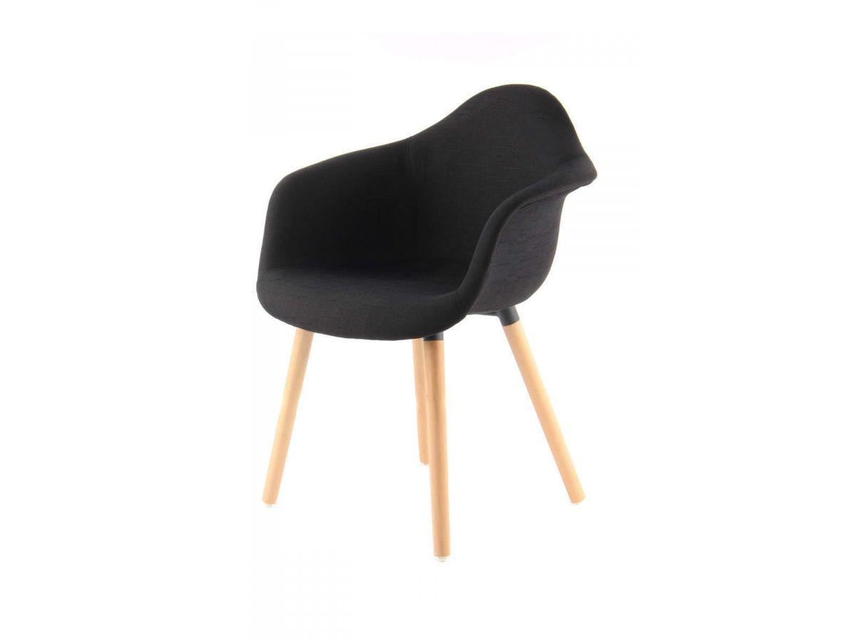 Lot de 2 chaises LILOU Noir