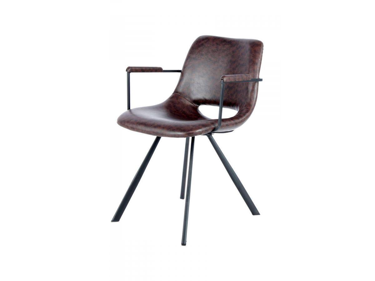 Lot de 2 chaises WENDY Marron foncé