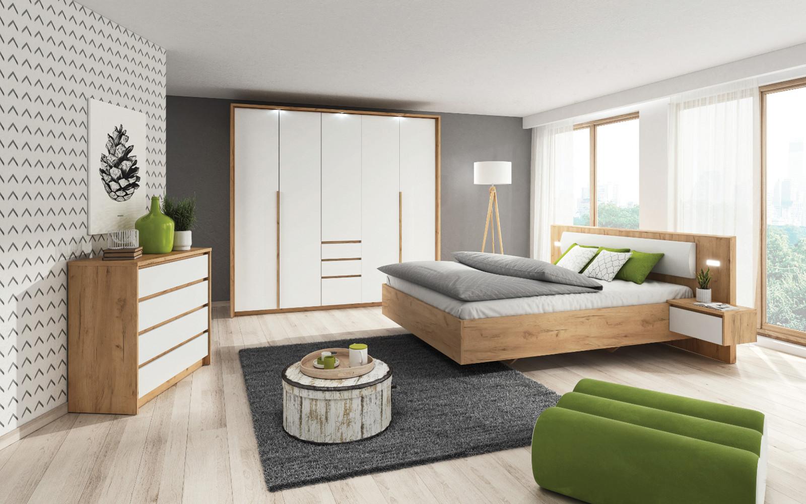Chambre complète XELYO Blanc et chêne