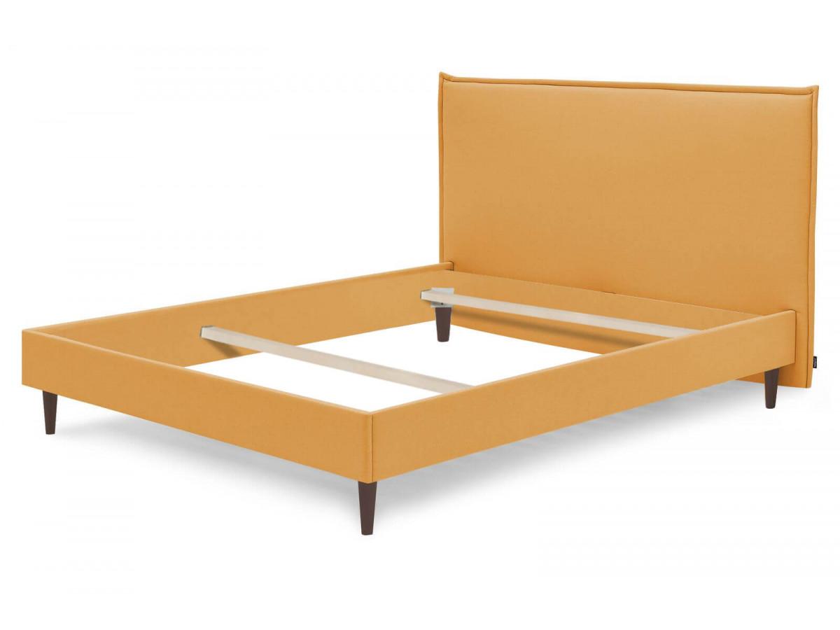 Structure de lit SARY pieds bois wengé 180 x 200 cm