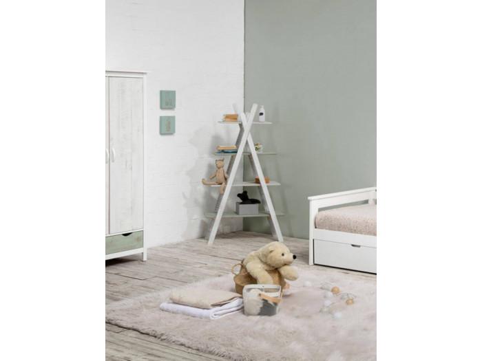 Étagère PETRA Blanc et Vert grisé