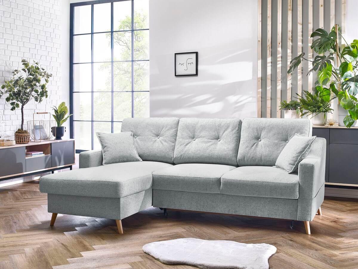 Canapé d'angle convertible coffre SWEDEN