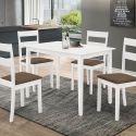 Table 120 cm DALLAS avec 4 chaises