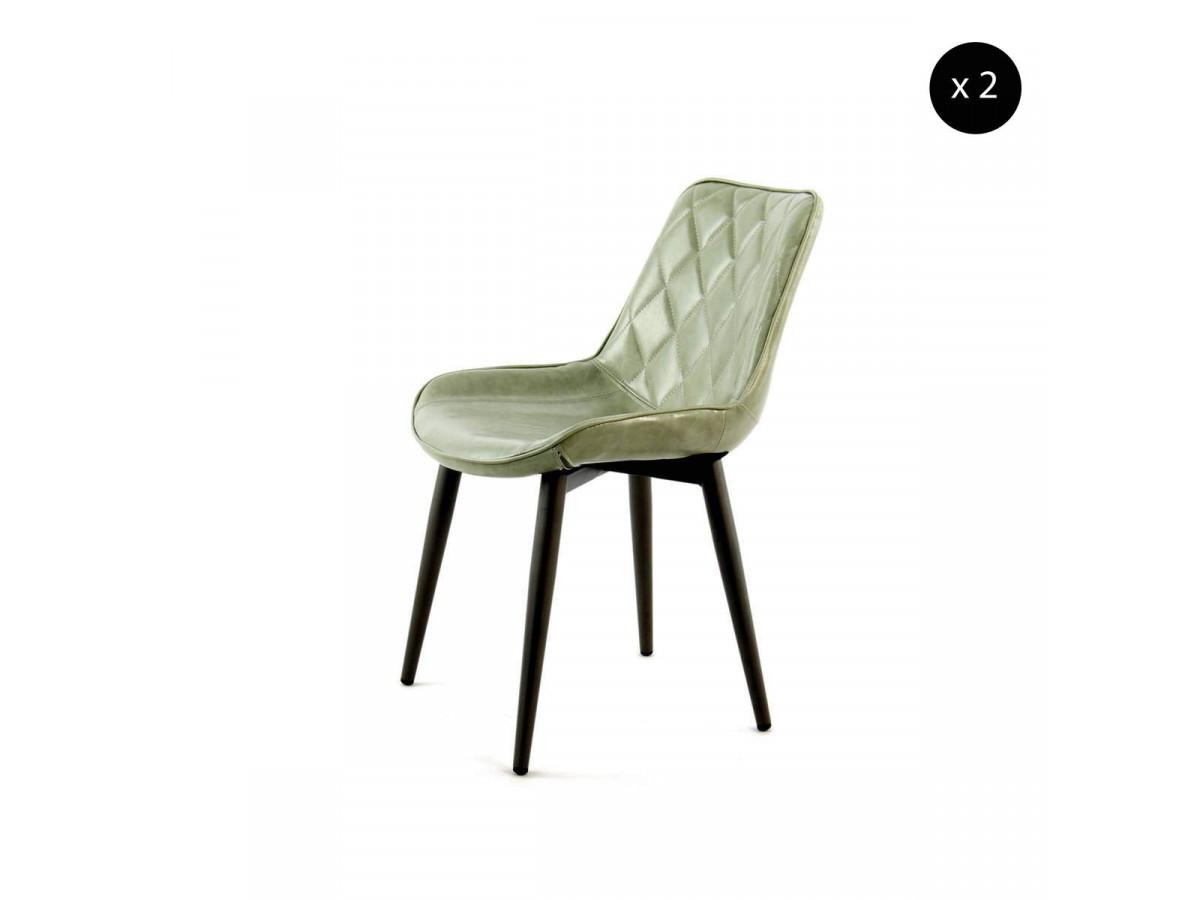 Lot de 2 chaises MAEL Vert clair