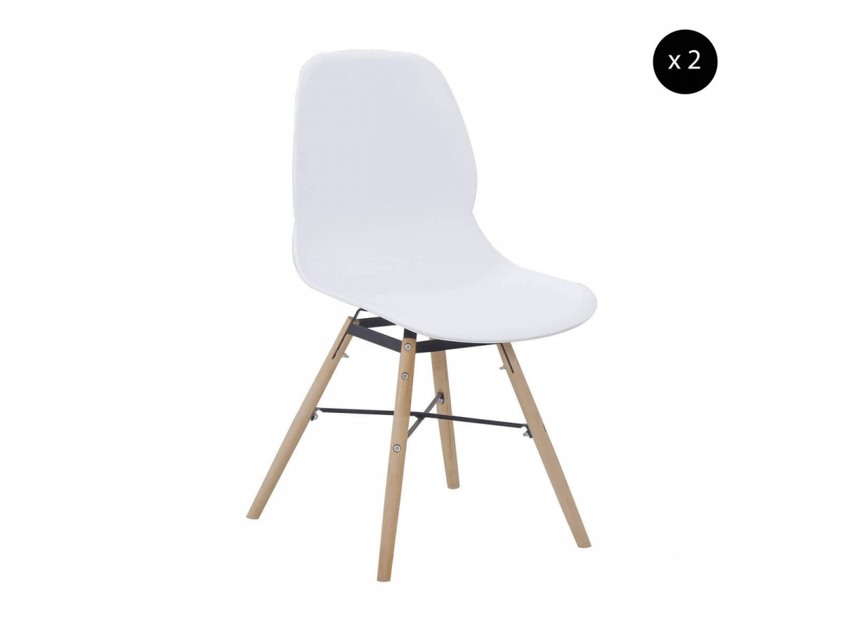 Lot de 2 chaises CELIAN Blanc